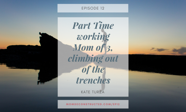 Episode 12: Part Time working Mom of 3, climbing out of the trenches with Kate Turza