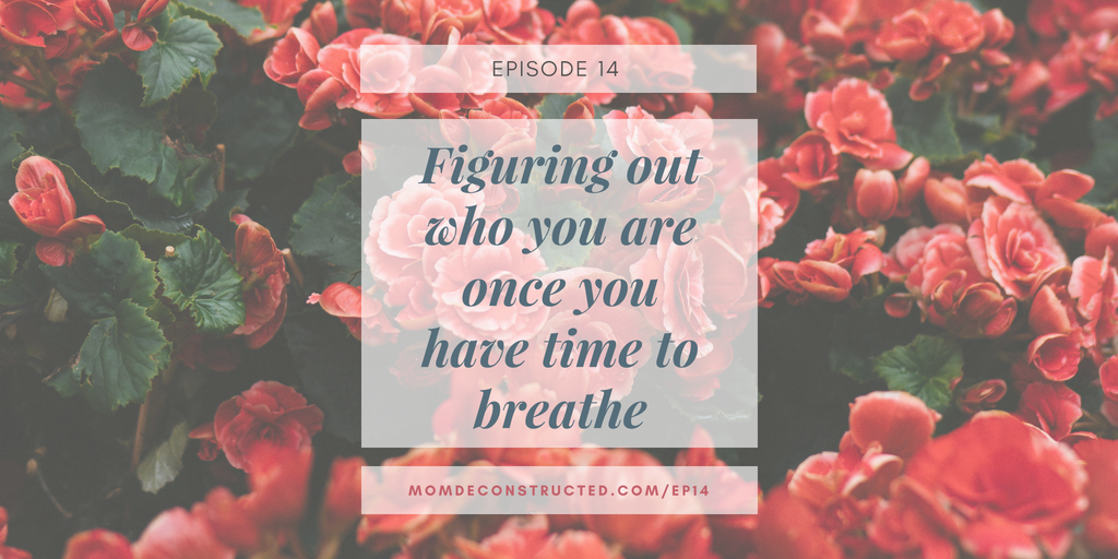 Episode 14: Figuring out who you are once you have time to breathe