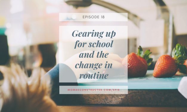 Episode 18: Gearing up for school and the change in routine